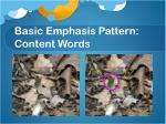basic emphasis pattern content words