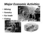 major economic activities