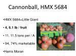 cannonball hmx 5684
