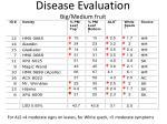 disease evaluation big medium fruit