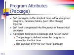 program attributes package