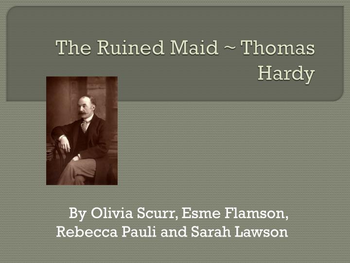 the ruined maid thomas hardy n.