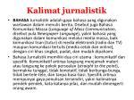 kalimat jurnalistik