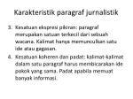 karakteristik paragraf jurnalistik1