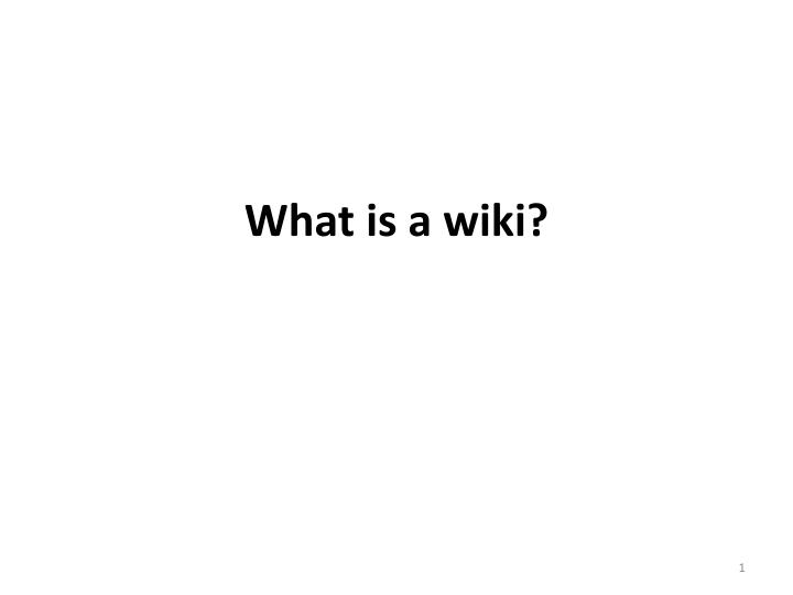 what is a wiki n.