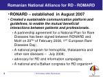 romanian national alliance for rd romard