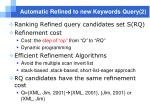 automatic refined to new keywords query 2