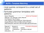 nlpx template matching