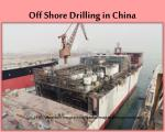 off shore drilling in china