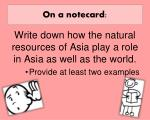 on a notecard