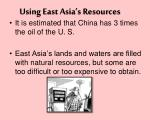 using east asia s resources