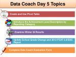 data coach day 5 topics