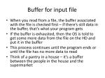 buffer for input file