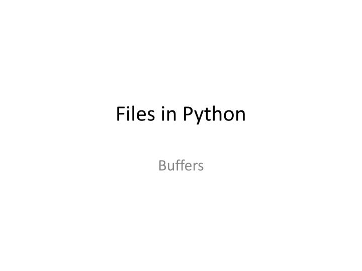files in python n.