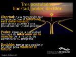 tres postulados libertad poder decisi n