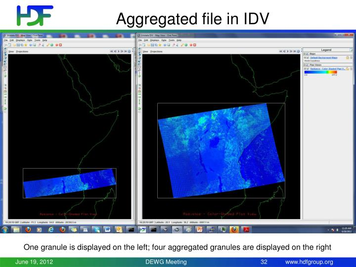 Aggregated file in IDV