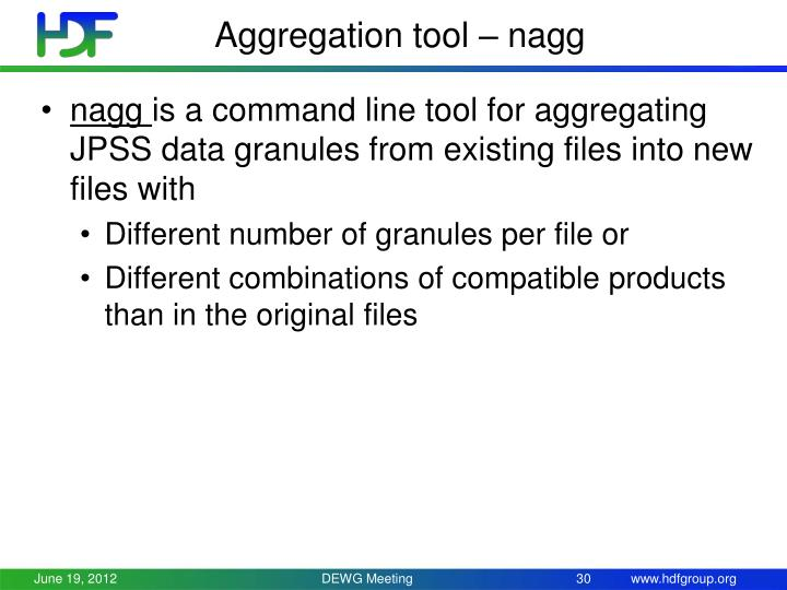 Aggregation tool –