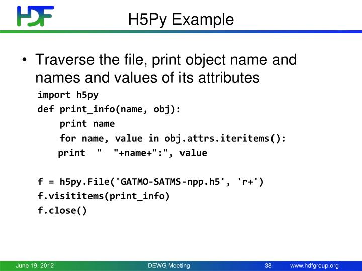 H5Py Example