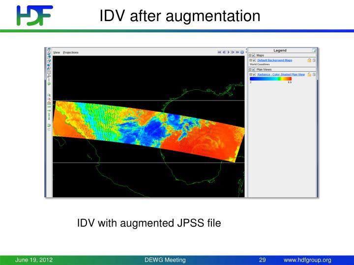 IDV after augmentation