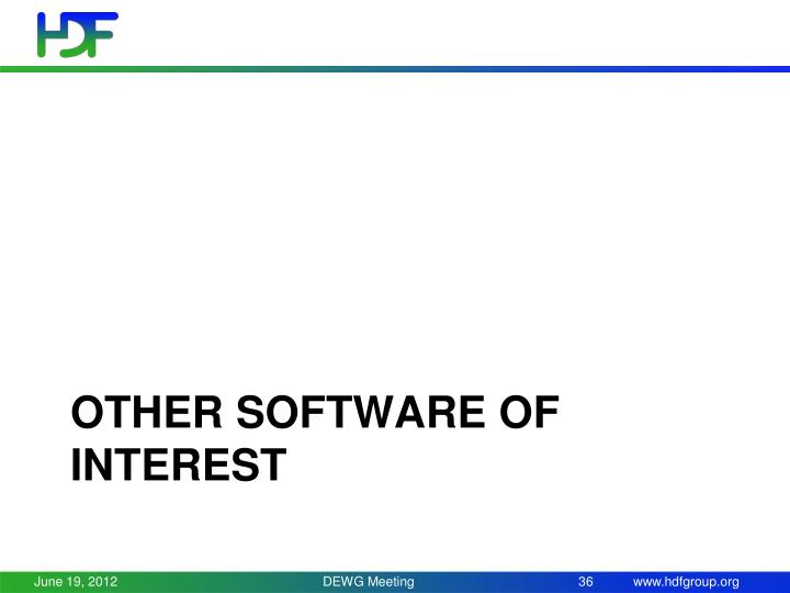 Other software of interest