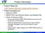 project information1