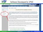 software developed for jpss