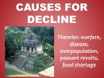 causes for decline
