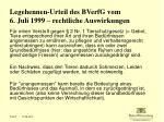 legehennen urteil des bverfg vom 6 juli 1999 rechtliche auswirkungen