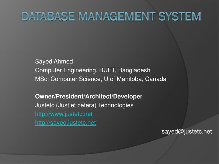 database management system n.