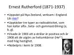 ernest rutherford 1871 1937