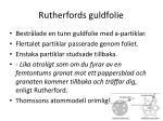 rutherfords guldfolie