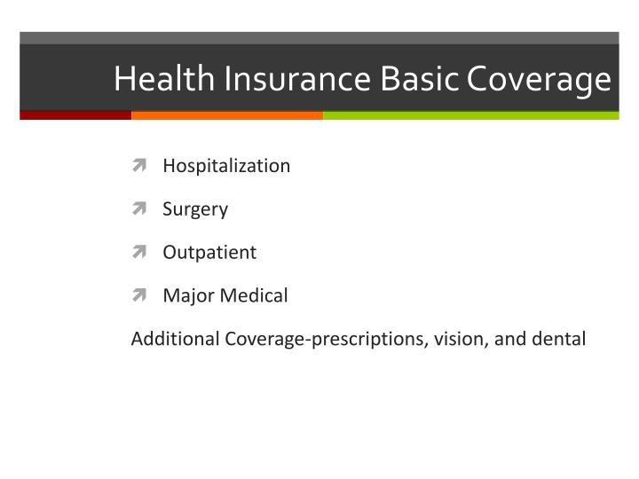 Health Insurance Basic Coverage