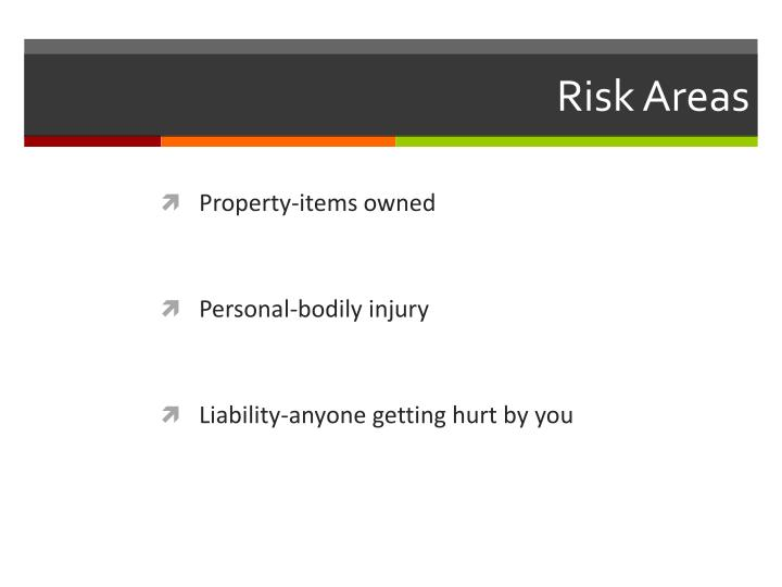 Risk areas
