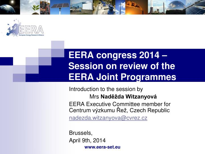 eera congress 2014 session on review of the eera joint programmes n.