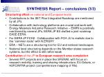 synthesis report conclusions 3 3