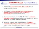 synthesis report recommendations1