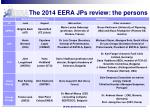 the 2014 eera jps review the persons