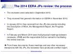 the 2014 eera jps review the process