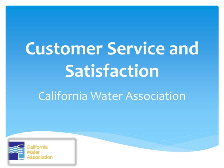 customer service and satisfaction n.