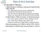 start of d4 2 activities