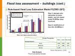 flood loss assessment buildings cont
