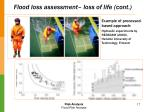 flood loss assessment loss of life cont