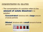 concentrated vs diluted