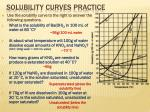 solubility curves practice