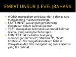 empat unsur level bahasa