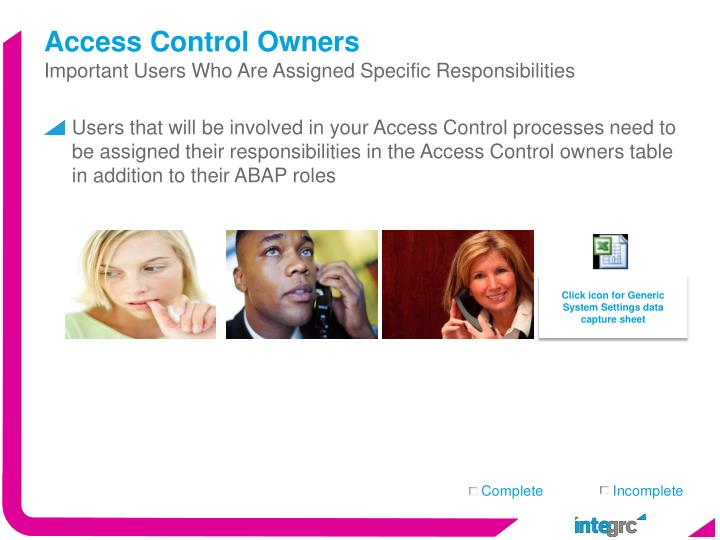 Access Control Owners