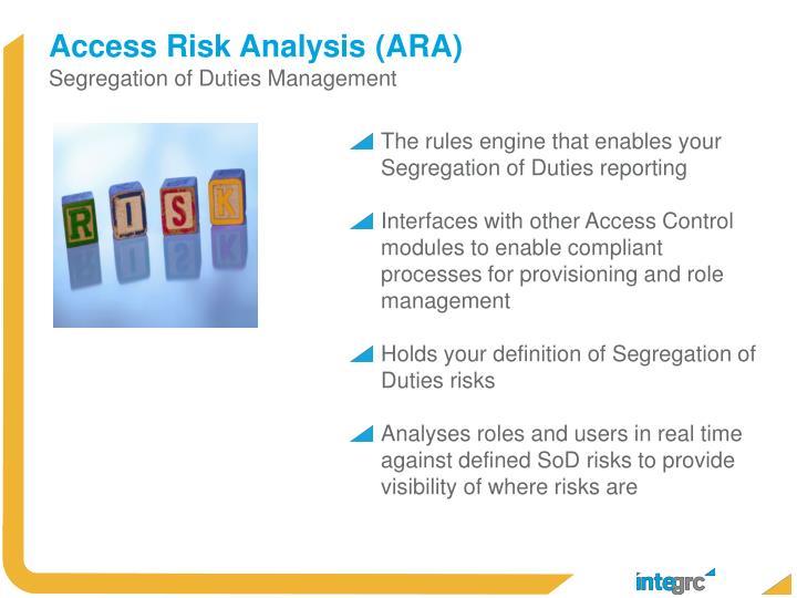 Access Risk Analysis (ARA)