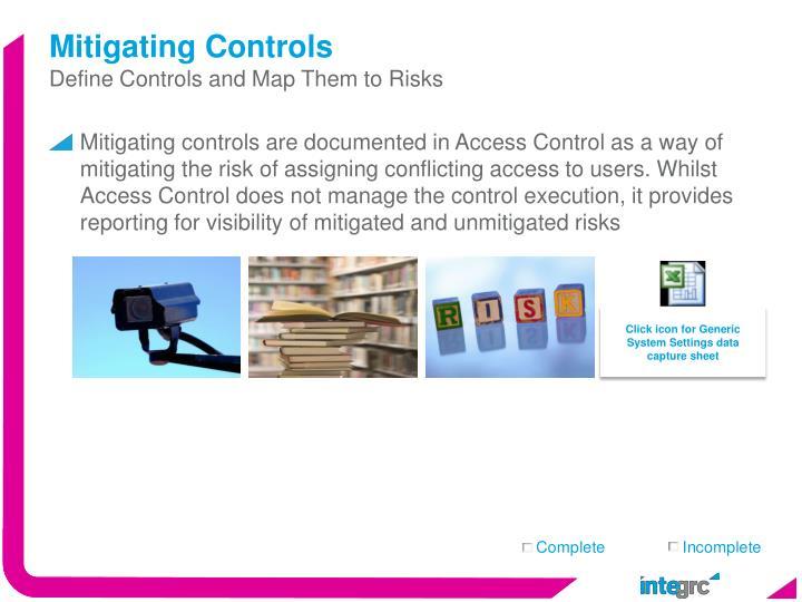 Mitigating Controls