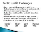 public health exchanges