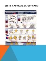 british airways safety card